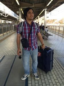 Waiting for the Shinkansen to Osaka
