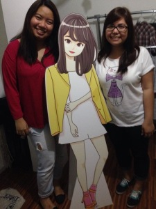 Amanda and Kenwin w/ Ashley standee