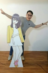 Art w/ Ashley standee