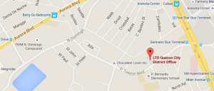 Location of LTO P. Tuazon